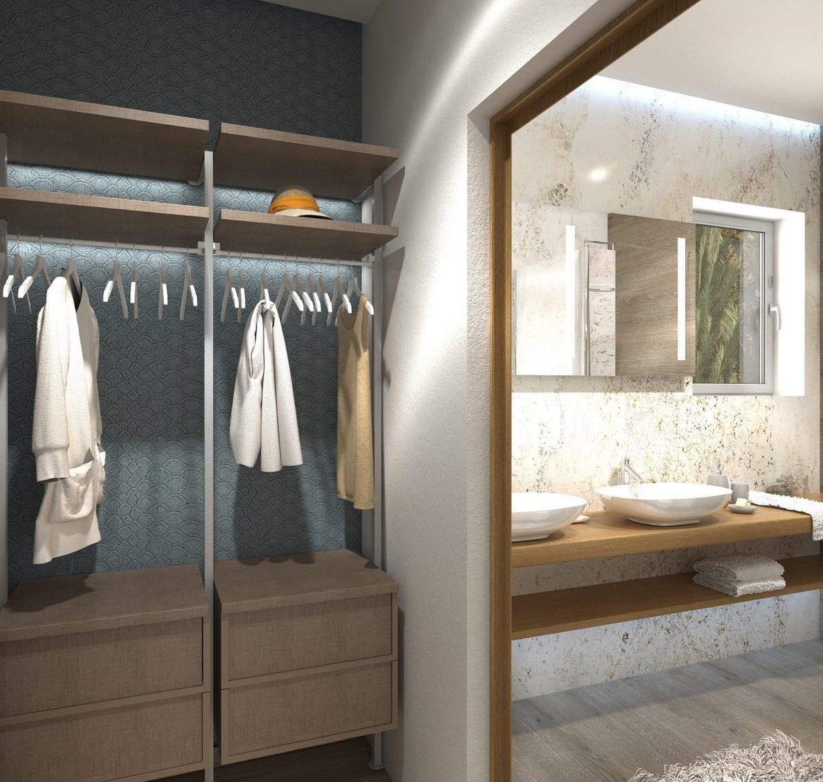 walk-in-closet bathroom